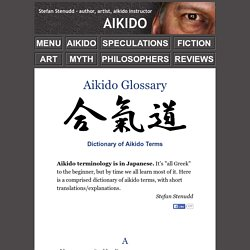 Aikido Glossary - Dictionary of aikido terms