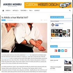Is Aikido a true Martial Art? - Aikido Hombu