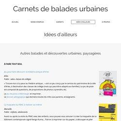 Carnets de balades urbaines