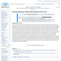 Trump Ailment with Saudi Arabia and U.A.E - Wikinews, the free news source