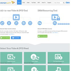 Aimersoft - Best DVD, DRM and Video Converter Provider