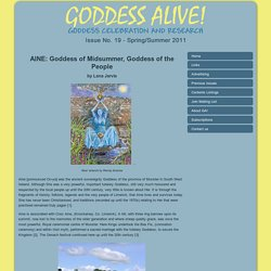Aine: Goddess of Midsummer - Goddess Alive!