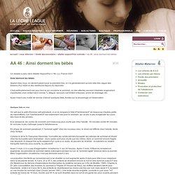 AA 46 : Ainsi dorment les bébés