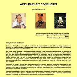 AINSI PARLAIT CONFUCIUS
