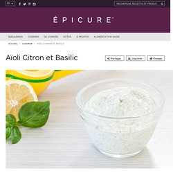 Aïoli Citron et Basilic