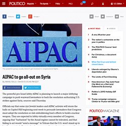 2013 l'AIPAC qualifie ASSAD de barbare