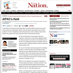 AIPAC's Hold