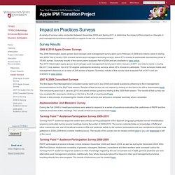 WASHINGTON STATE UNVIERSITY - Apple IPM transition project - impact on practices surveys.