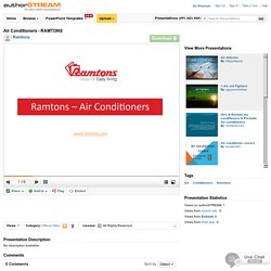 Air Conditioners - RAMTONS