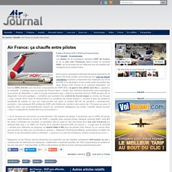 Air France: ça chauffe entre pilotes