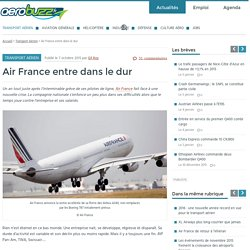 Air France entre dans le dur