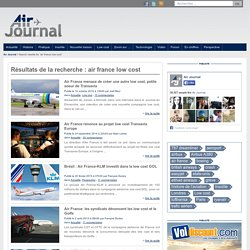 Doc 1. Air france low cost