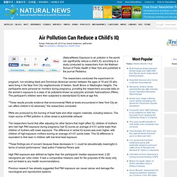 Air Pollution Can Reduce a Child's IQ
