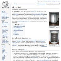 Air purifier - Wikipedia