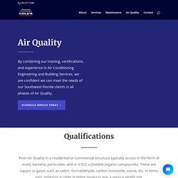 Air Quality - Cole's Air Diagnostics