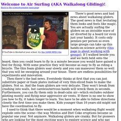 air-surfing aka walkalong gliding