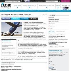Air Transat ajoute un vol de Toulouse