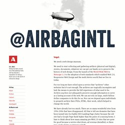 Airbag Industries — Design is not superficial vanity, it's better communication.