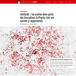 Airbnb: la carte des prix de location à Paris (et ce qu'on y apprend)