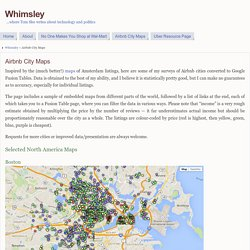 Airbnb City Maps - Whimsley