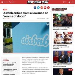 Airbnb critics slam allowance of 'rooms of doom'