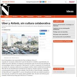 Uber y Airbnb, sin cultura colaborativa