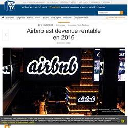 Airbnb est devenue rentable en 2016