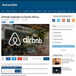 Airbnb explodes in South Africa