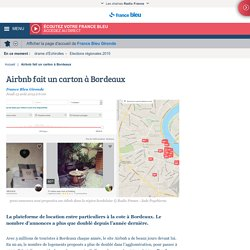 Airbnb fait un carton à Bordeaux