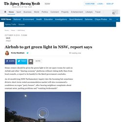 Airbnb to get green light in NSW, report says