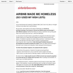 Airbnb Made Me Homeless (So I Used My Wish Lists)