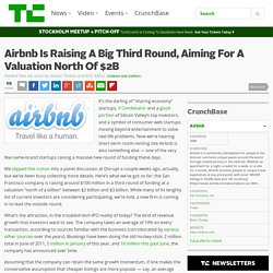 Airbnb Is Raising A Big Third Round, Aiming For A Valuation North Of $2B