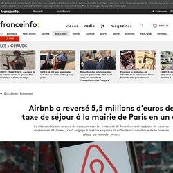 Airbnb a reversé 5,5 millions d'euros de taxe de séjour à la mairie de Paris en un an