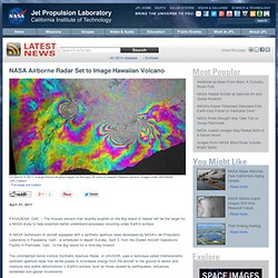 Airborne Radar Set to Image Hawaiian Volcano - NASA Jet Propulsion Laboratory - Iceweasel
