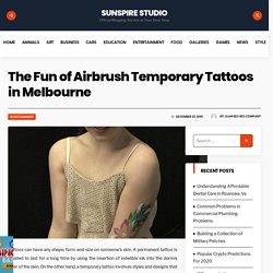 The Fun of Airbrush Temporary Tattoos in Melbourne