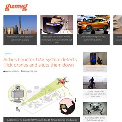 Airbus Counter-UAV System detects illicit drones and shuts them down