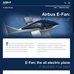 E-Fan: the electric plane