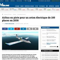 Airbus en piste pour un avion électrique de 100 places en 2030