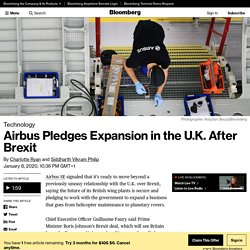 Airbus Chief Faury Pledges Expansion in the U.K. After Brexit