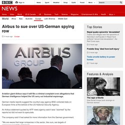 Airbus to sue over US-German spying row - BBC News