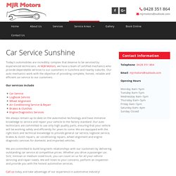 Car Service Sunshine