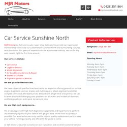 Car Service Sunshine North