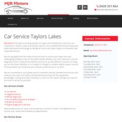 Car Service Taylors Lakes