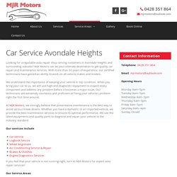 Car Service Avondale Heights
