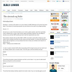 The aircrack-ng Suite « Hacking With Kali Linux