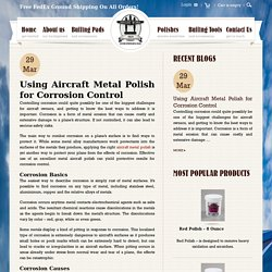 Using Aircraft Metal Polish for Corrosion Control