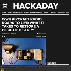 WWII Aircraft Radio Roars To Life: What It Takes To Restore A Piece Of History