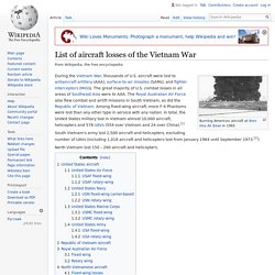 List of aircraft losses of the Vietnam War - Wikipedia