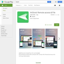 AirDroid - Aplikacje Android w Google Play