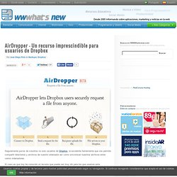 AirDropper – Un recurso imprescindible para usuarios de Dropbox